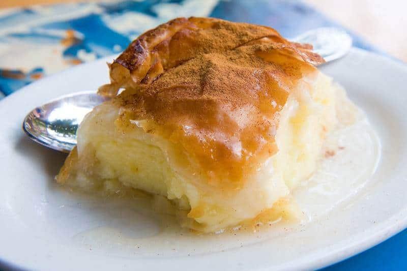 greek custard slice
