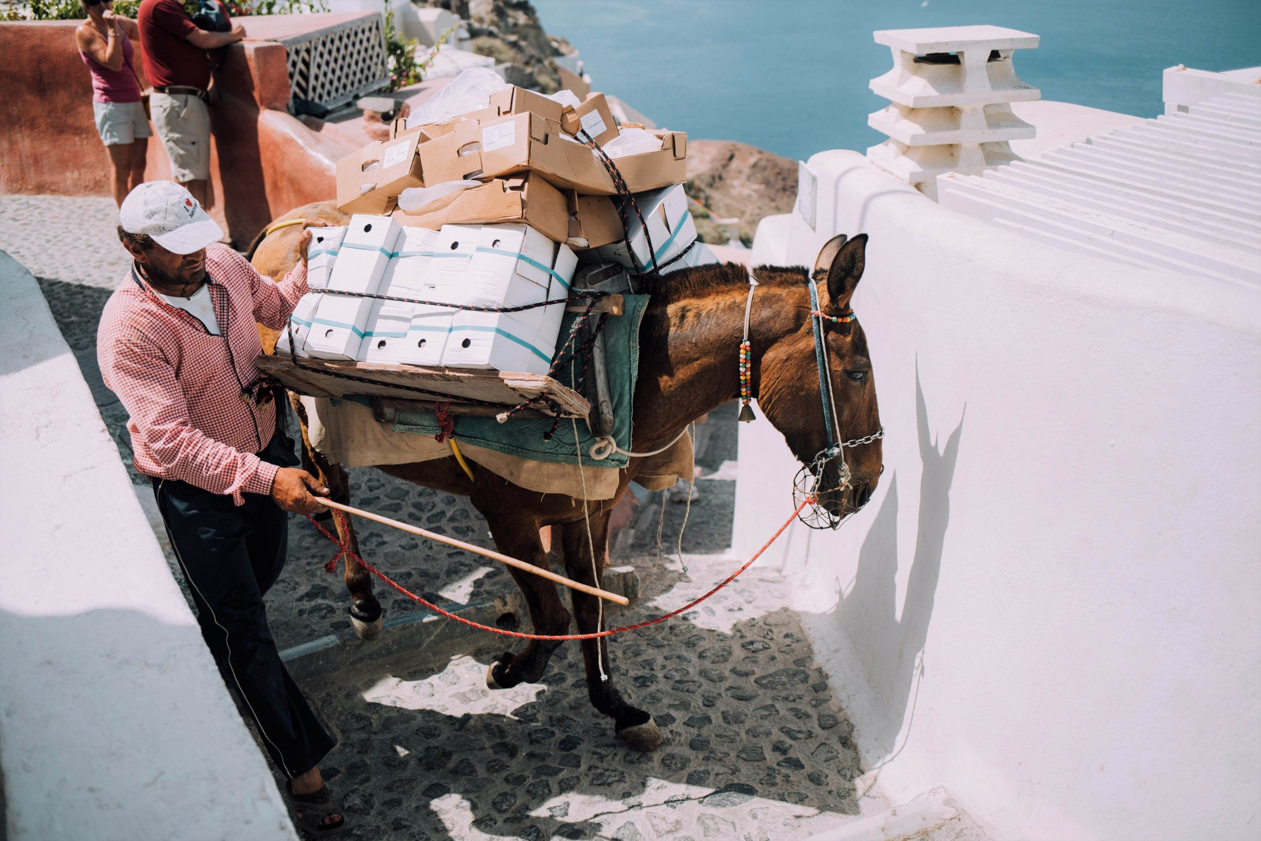 transport on santorini