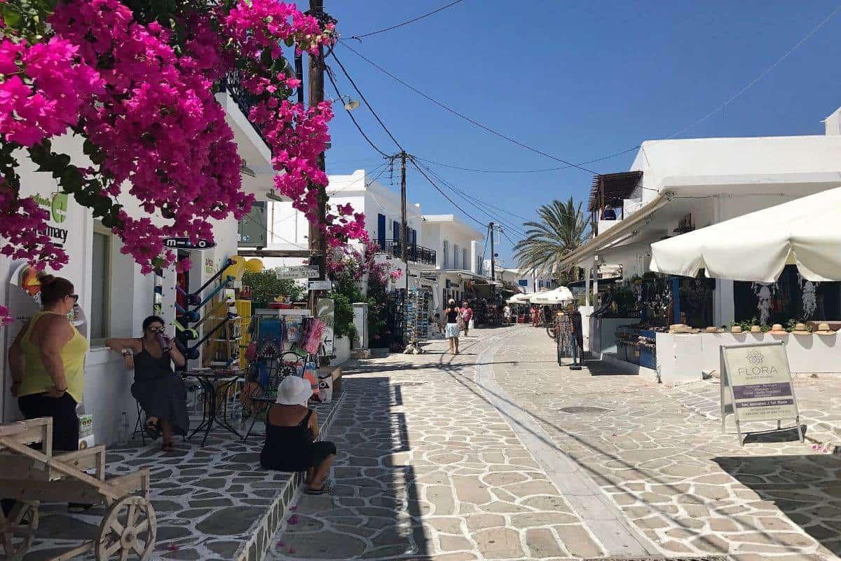 main street greek island