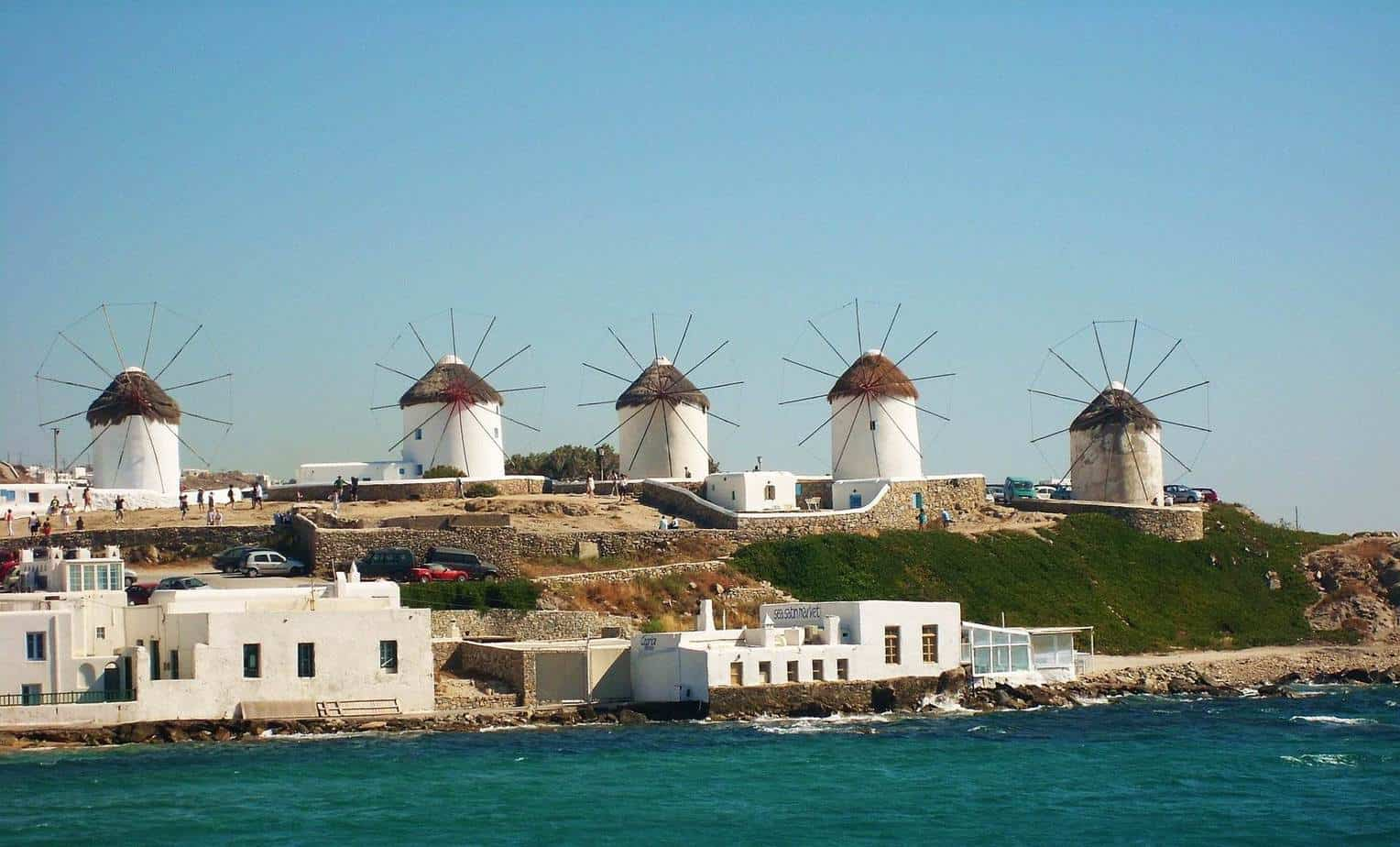 windmills in greece