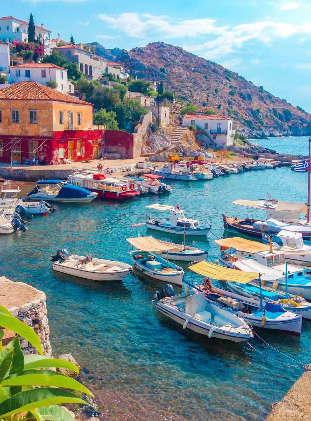 greece fishing boats