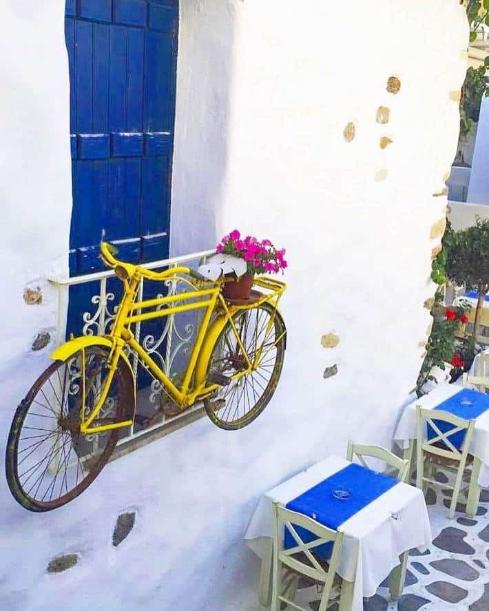 greek island bicycle