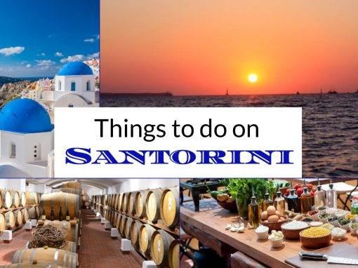 santorini activities