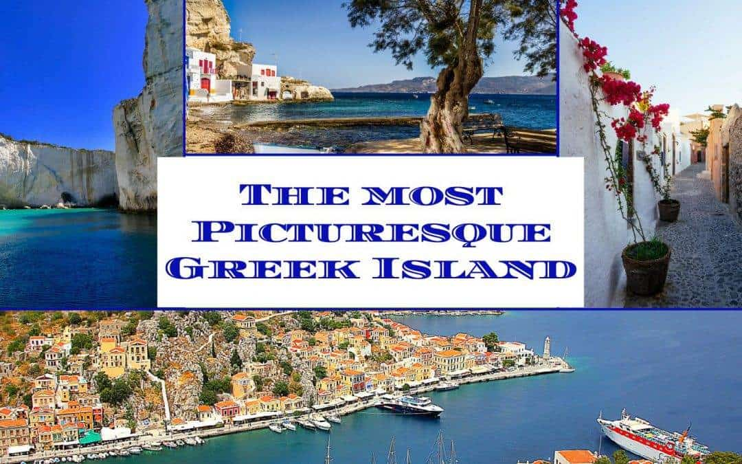Which is the most picturesque Greek island on the Aegean sea?