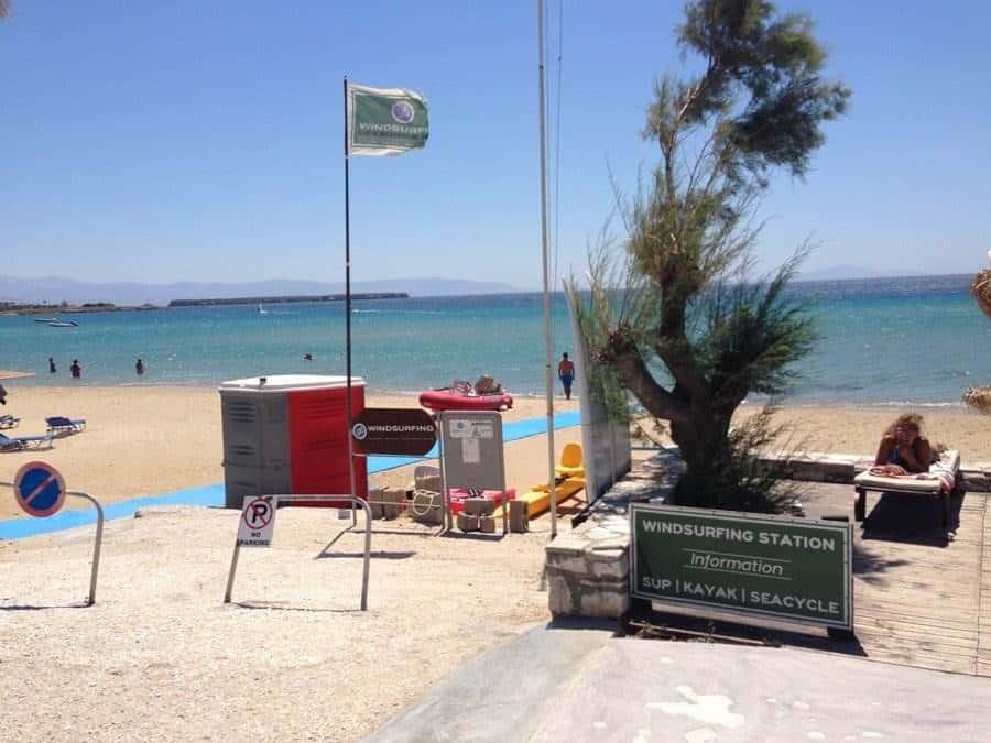 windsurfing beach paros