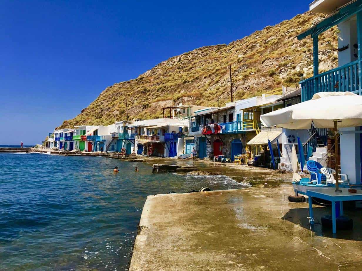 greek fishermans huts
