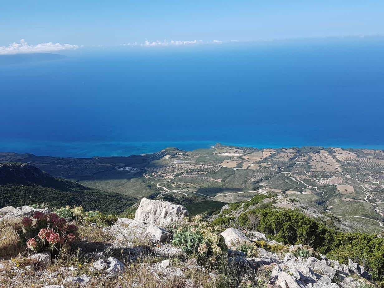 hiking in greece