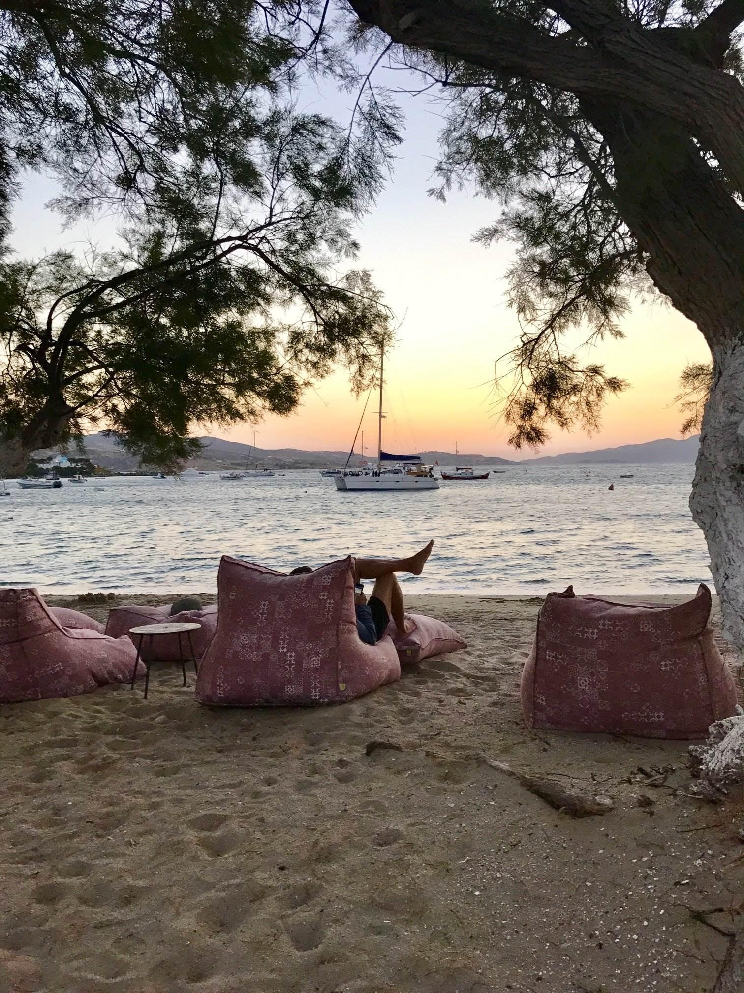 Pollonia beach at dawn