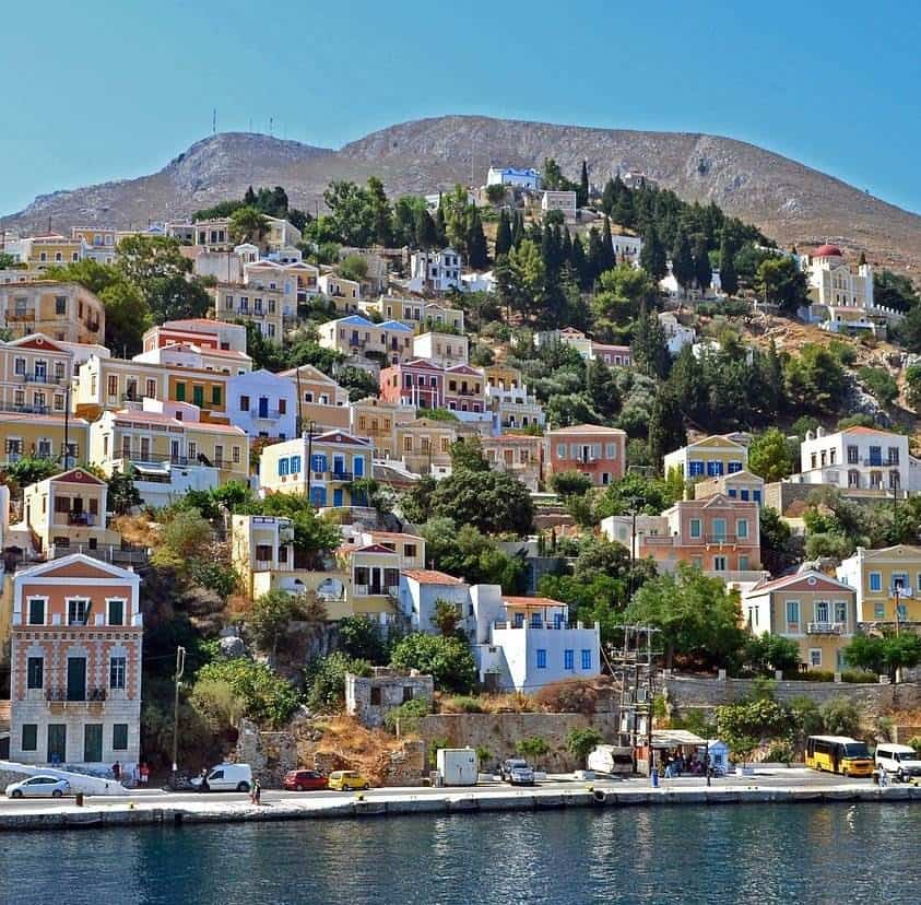 greek island buildings