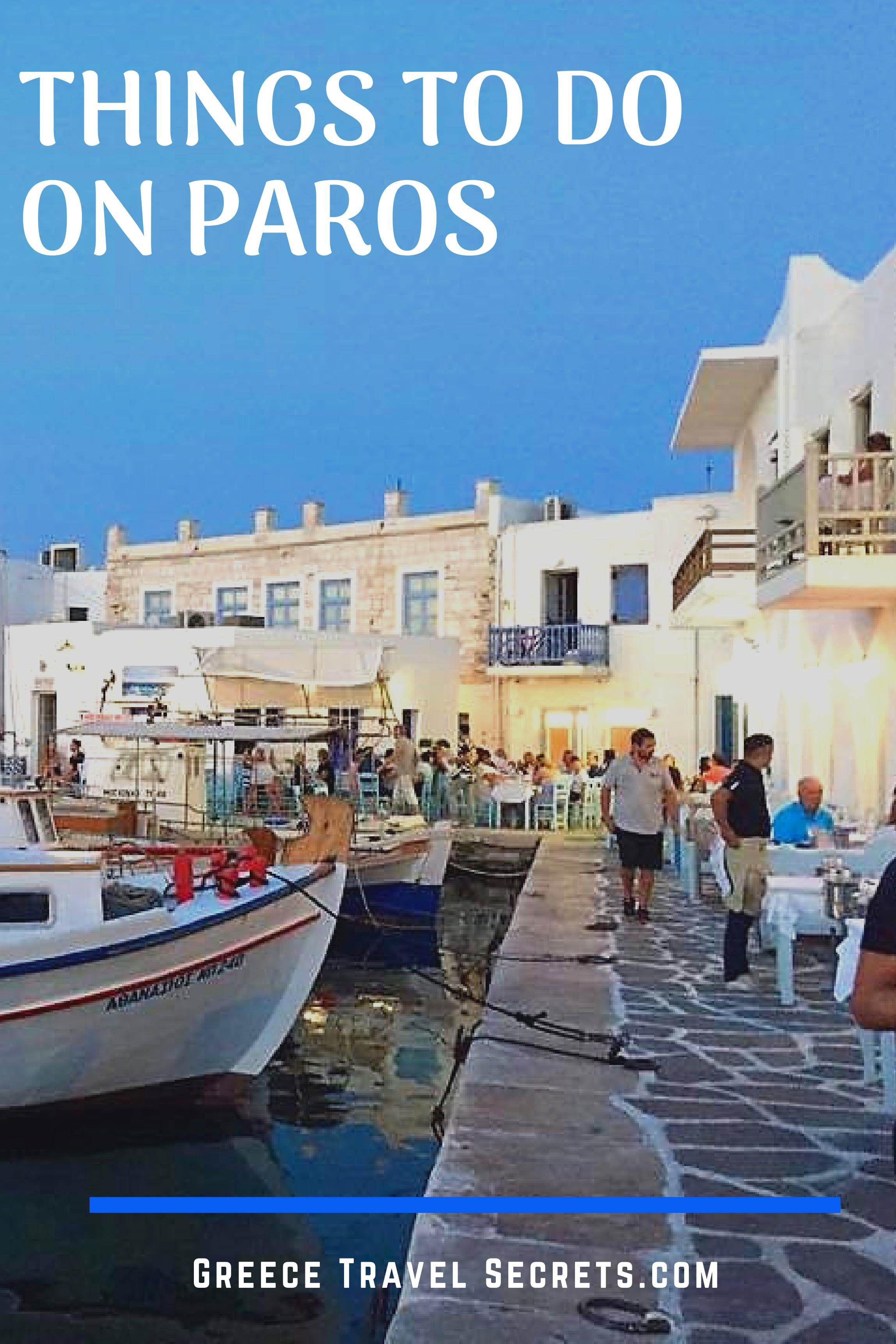 Paros Greece activities