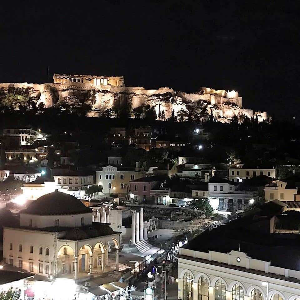 acropolis view from athens hotel