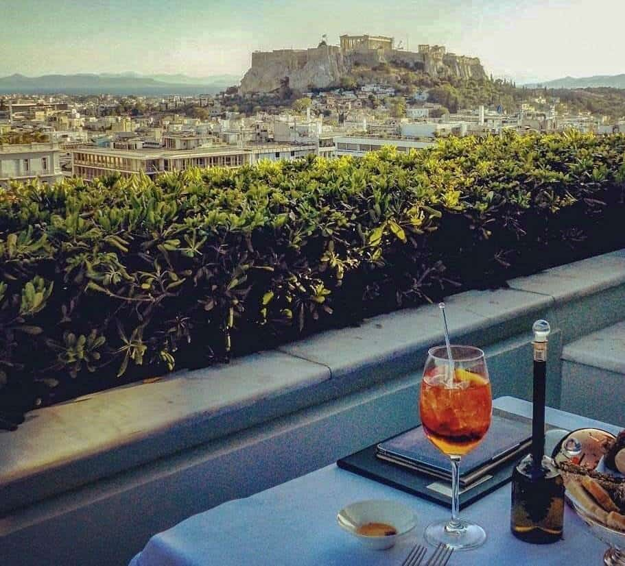 hotel with acropolis view