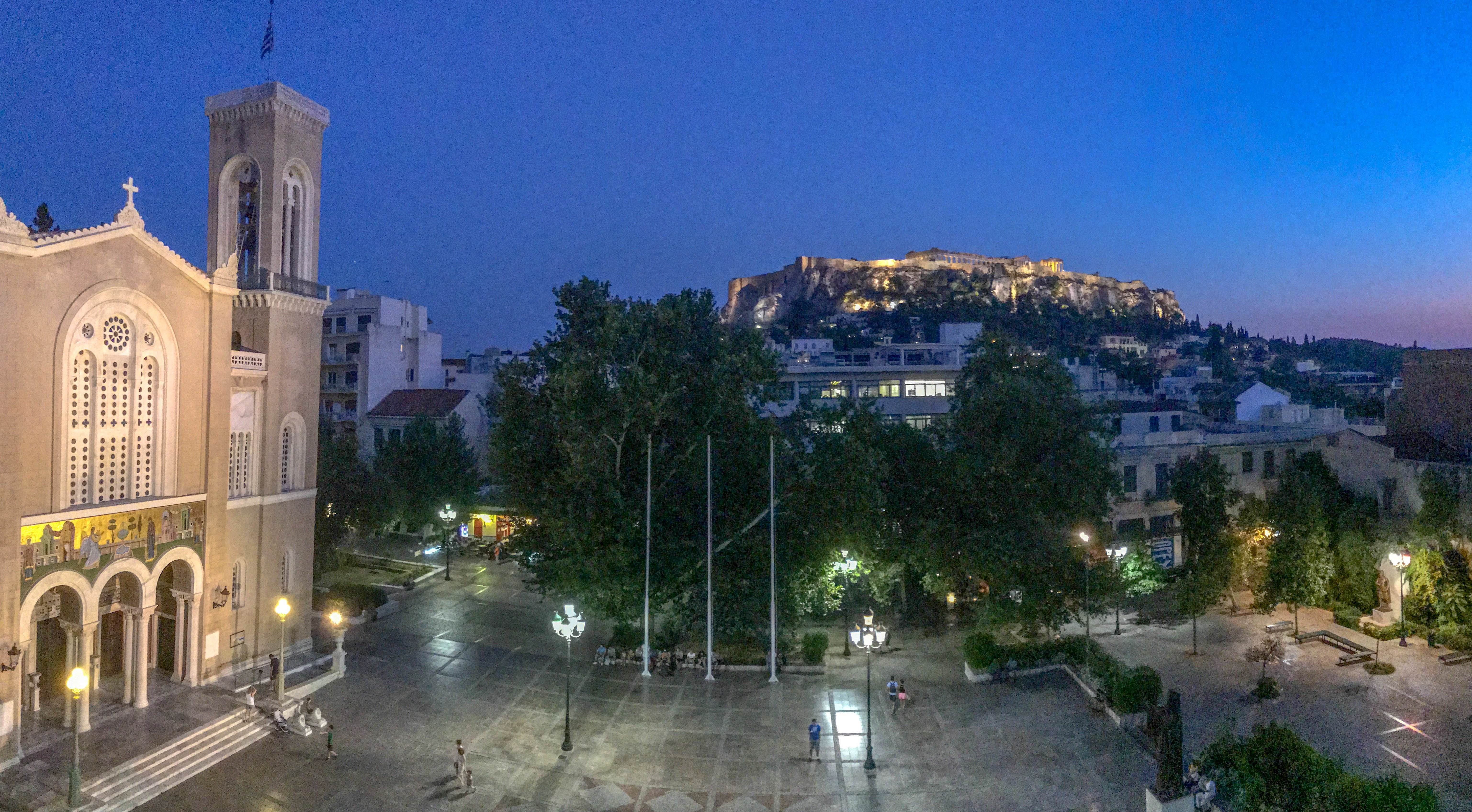 athens hotel with acropolis view