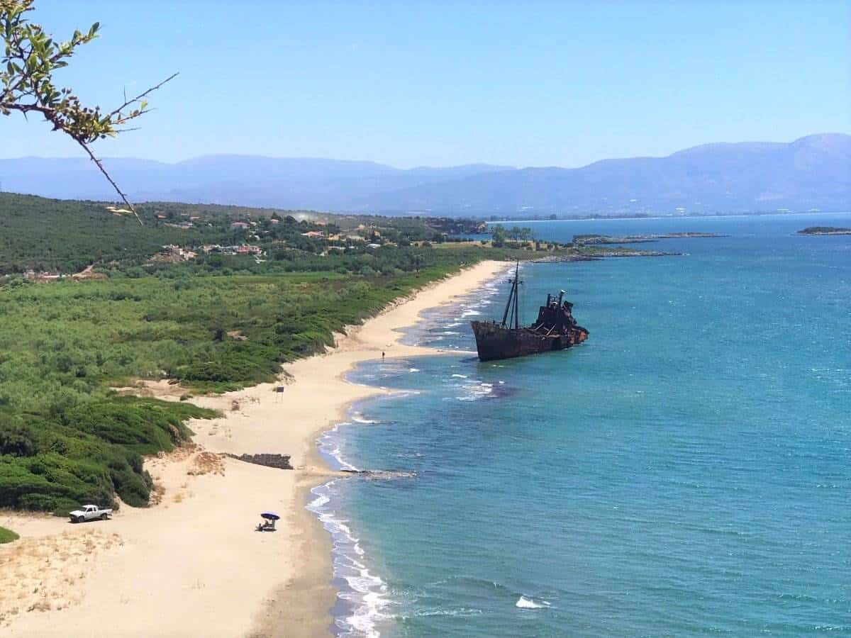 dimitrious shipwreck greece