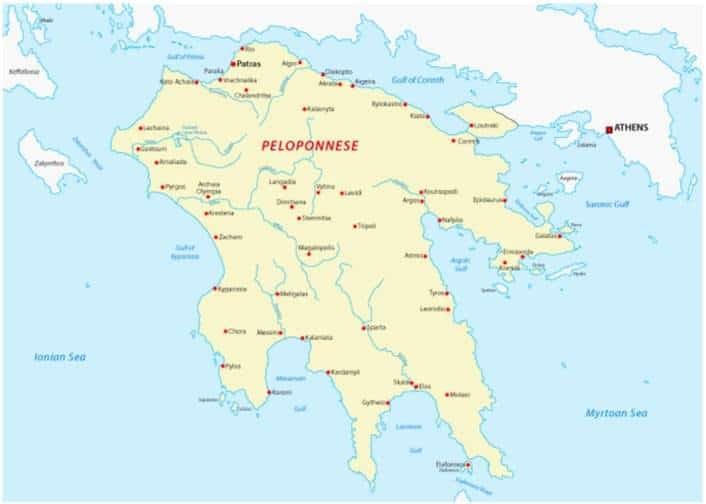greece mainland map