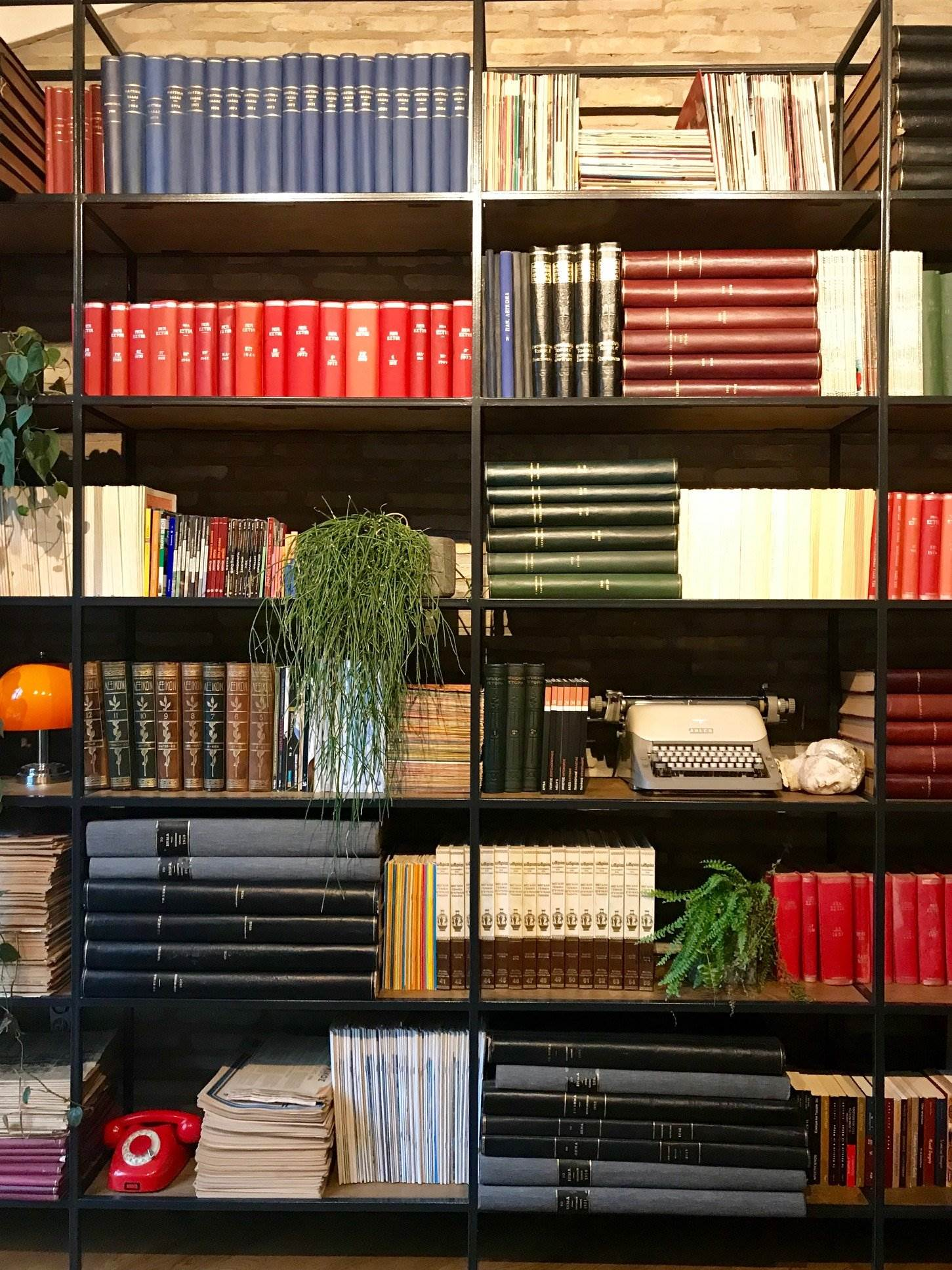 bookcase in athens