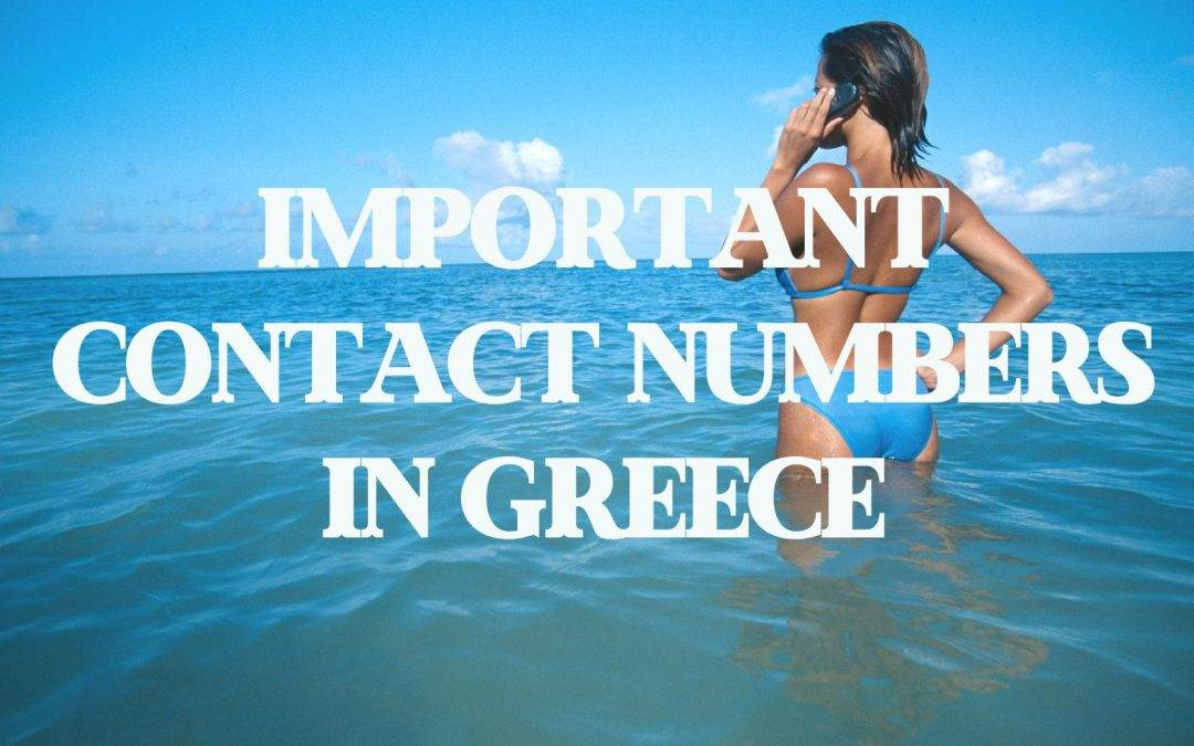Useful contacts and emergency numbers in Greece