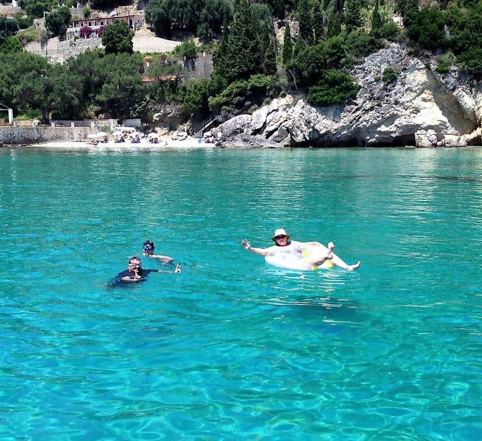 swimming in corfu