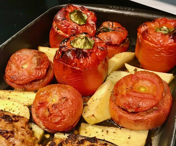 Yemista (Stuffed peppers and tomatoes)